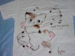 布絵Tシャツ「Dancing猫ちゃん」